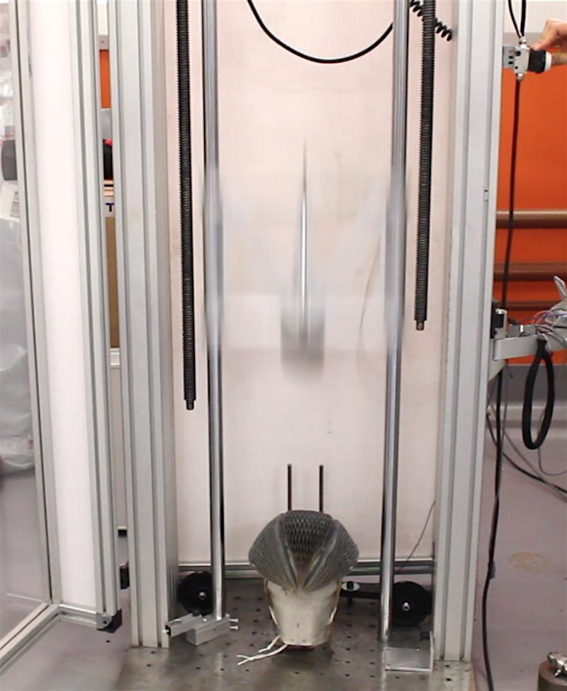 Der EcoHelmet wurde im Labor getestet.