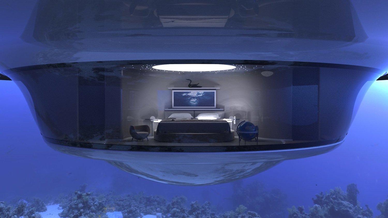 Schlafzimmer des UFO 2.0: In einer ungewöhnlicheren Umgebung können Passagiere kaum einschlafen.