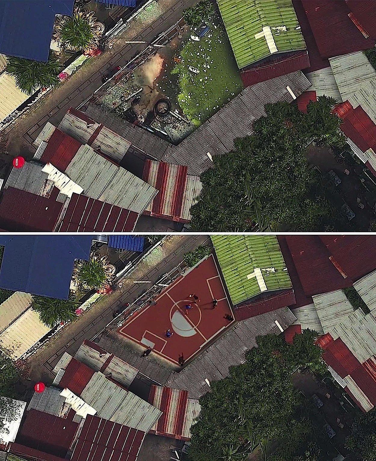 Tolle Idee: Fußballplatz in Form eines Trapezes.