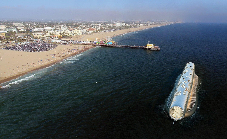 The Pipe könnte direkt vor der Küste im Meer installiert werden, um eine unter Dürre leidende Stadt wie Santa Monica in Kalifornien mit Wasser zu versorgen.