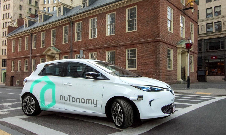 Umgebauter Renault von Nutonomy: In Singapur sollen das Roboter-Taxis schon 2018 autonom durch die Straßen fahren.