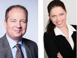 Rebecca Jakobs ist Personalleiterin bei Helbako in Heiligenhaus. Thomas Sundermann ist Personalleiter bei Carcoustics in Leverkusen.