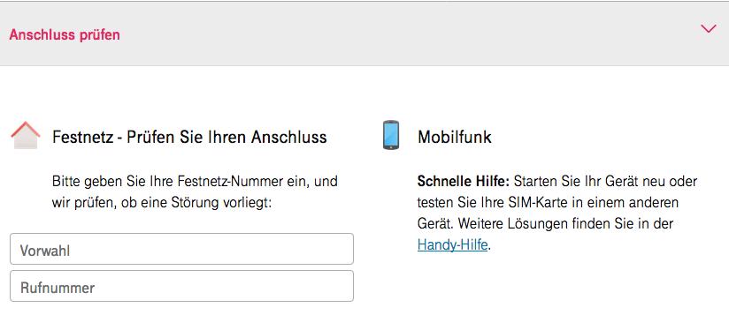 Wer prüfen will, ob sein Anschluss richtig funktioniert, kann einen Test auf der Telekom-Homepage auslösen.