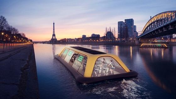 Paris Navigation Gym: Wer auf diesem Boot Fitness betreibt, dessen Energie verpufft nicht in der Luft, sondern die Bewegungsenergie wird in Strom umgewandelt.