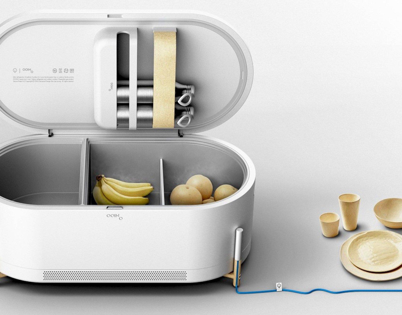 Diese vermeintliche Lautsprecherbox des koreanischen Designers JaeYoung Kimist wirklich ein Kühlschrank, etwa für Gemüse, Obst und Getränke.