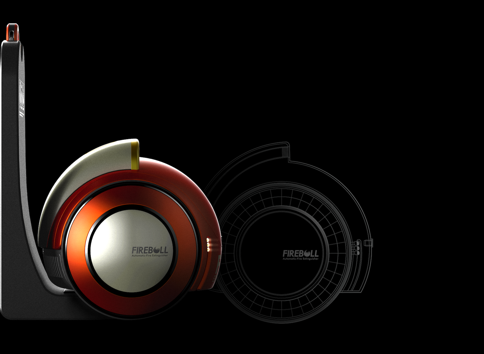 Das ist kein Staubsauger, sondern ein automatischer Feuerlöscher, den ebenfalls der koreanische DesignerJaeYoung Kim entwickelt hat.