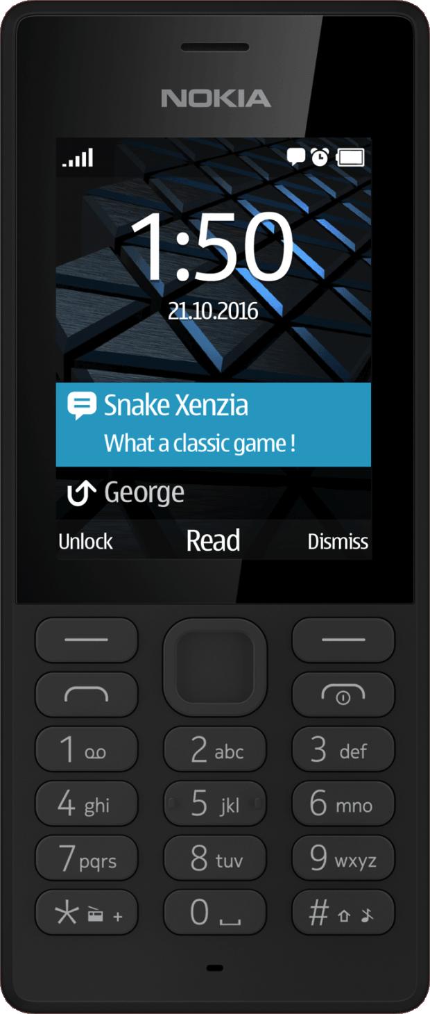 Punkten soll das Nokia 150 mitbis zu 22 Stunden Gesprächszeit und einem ganzen Monat lang Stand-by.