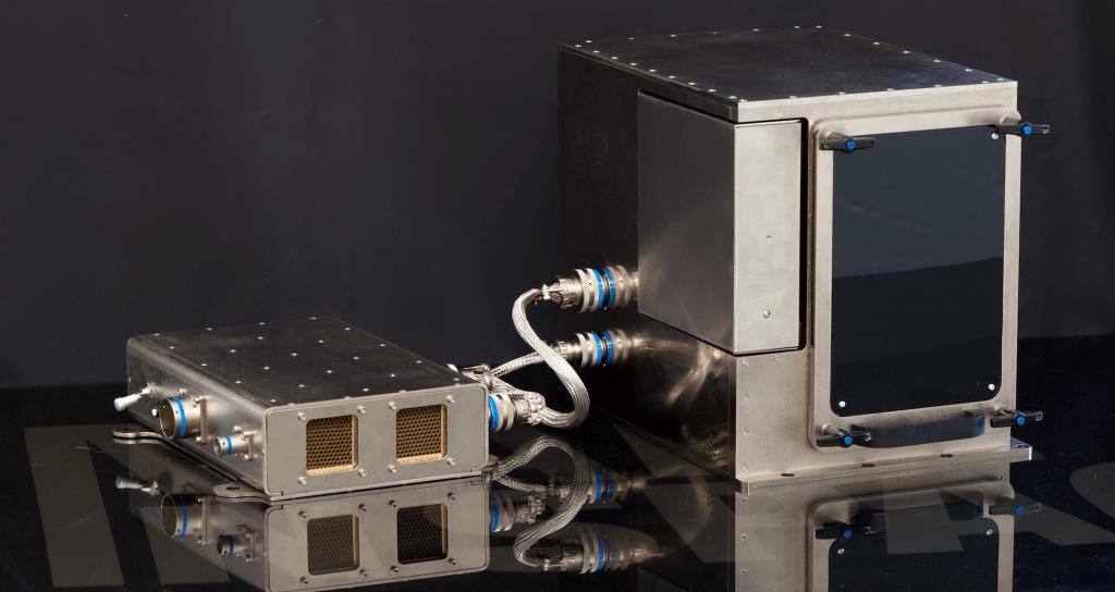 Aus diesem 3D-Drucker kommt das Lachen als Kunstobjekt heraus. Er steht auf der ISS.