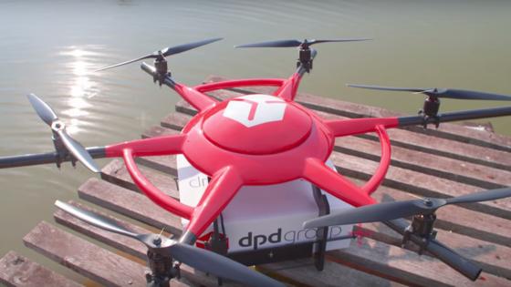 Drohne des DPD: Der Hexacopter hat eine Reichweite von 20 km und erreicht eine Höchstgeschwindigkeit von 30 km/h.