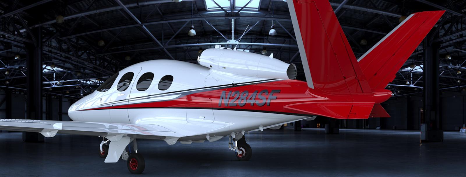 Der Vision Jet wiegt leer nur 1.620 kg – er besteht überwiegend aus Karbon.