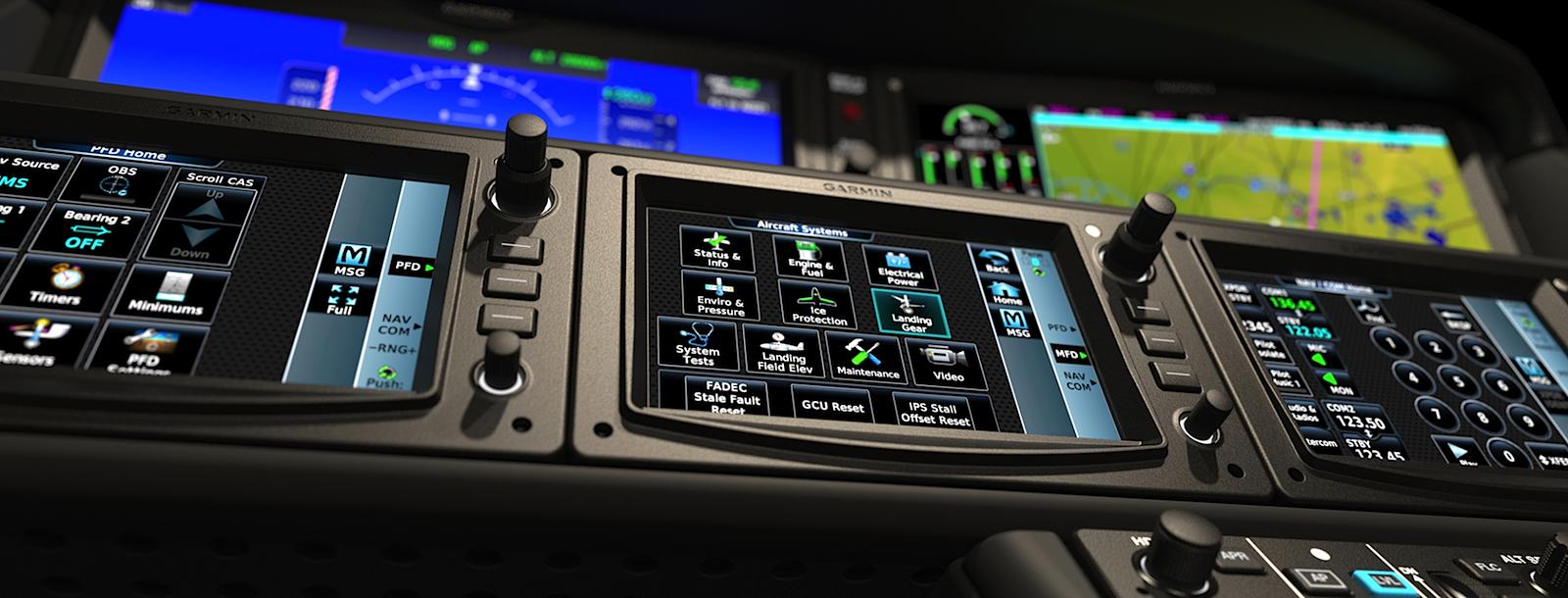 Das Cockpit im Vision Jet.