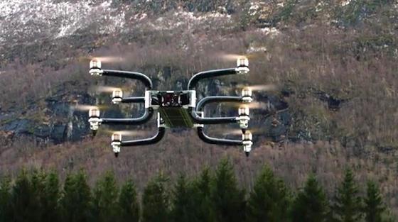 Die Drohne Griff 300 kann bis zu 225 kg Nutzlast transportieren.