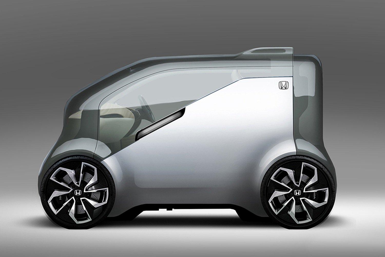 So stellt sich Honda die Elektromobilität der Zukunft vor: Das Cooperative Mobility Ecosystem fährt autonom und spricht sogar mit den Passagieren.