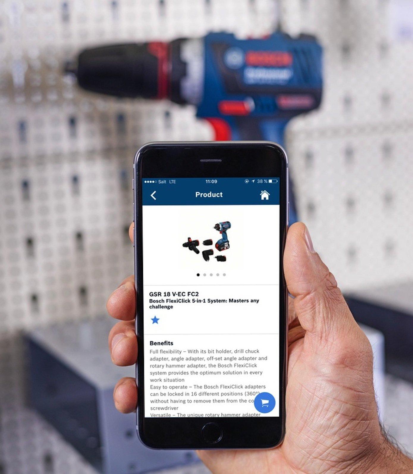 Auch Werkzeuge lassen sich nun per App individuell einstellen. Zudem können Belastung und Einsatzzeiten erfasst werden.