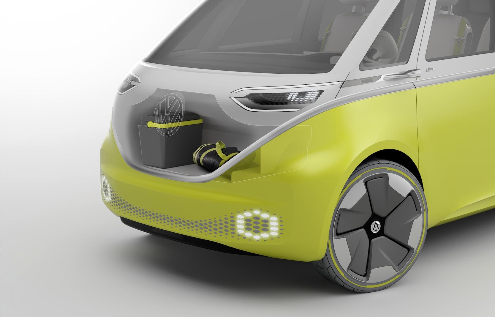 Das Auto hat nicht nur zwei Elektromotoren vorne und hinten, sondern sogar zwei Kofferräume.