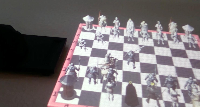 Auf der CES präsentierte das französische Start-up ein Schachspiel mit der Hololamp.