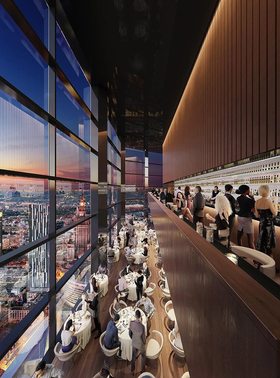 Cafés und Restaurants werden in dem Varso-Tower untergebracht sein – mit Blick auf die Warschauer Skyline.