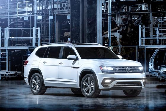 Das neue US-Modell VW Atlas kommt 2018: Die meisten Modelle deutscher Hersteller haben nur einen geringen Anteil amerikanischer Wertschöpfung, ergab jetzt ein Überblick der US-BehördeNHTSA.