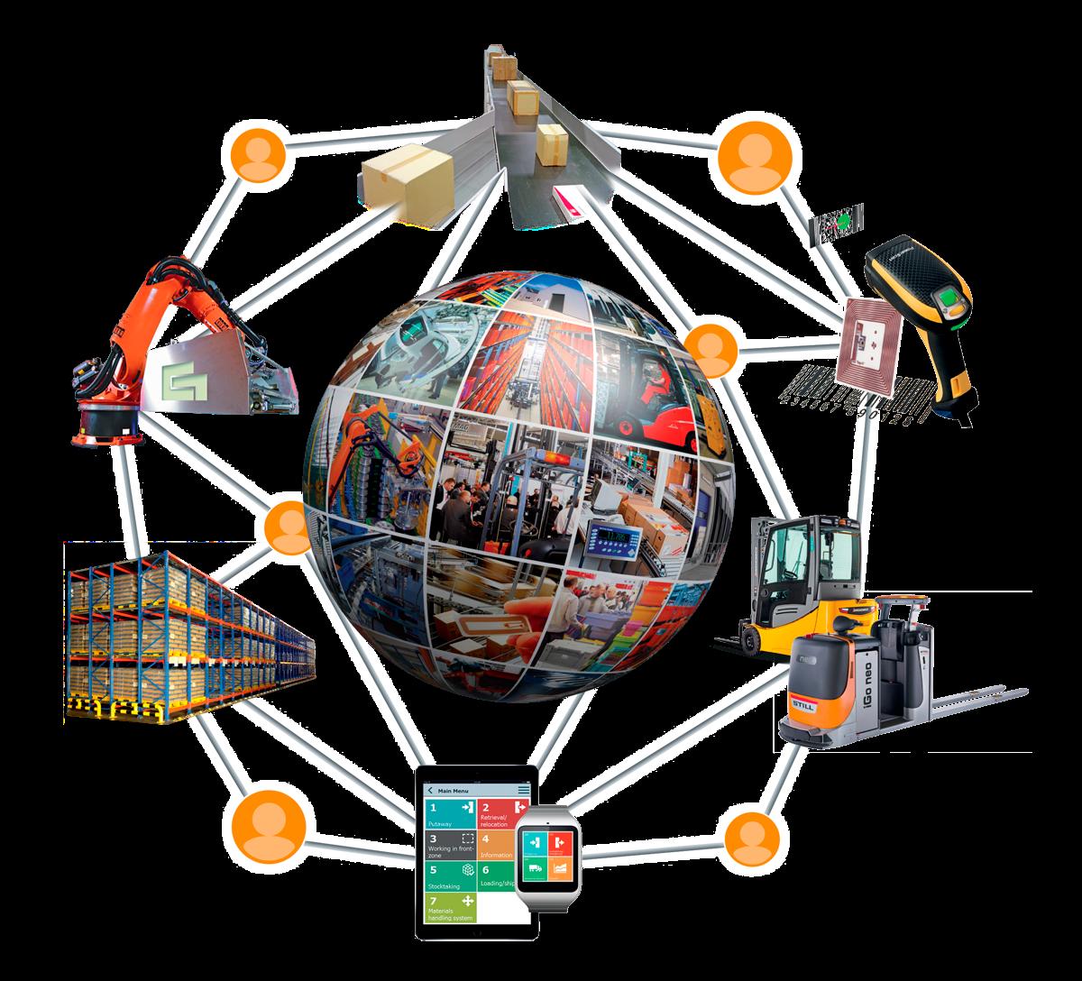 """Unter dem Motto """"Wandel gestalten: Digital – Vernetzt – Innovativ"""" steht die LogiMAT 2017. Die internationale Fachmesse für Distribution, Material- und Informationsfluss widmet sich den Zukunftsprojekten Industrie 4.0 und dem Internet der Dinge, also der Digitalisierung und intelligenten Vernetzung von Prozessen."""