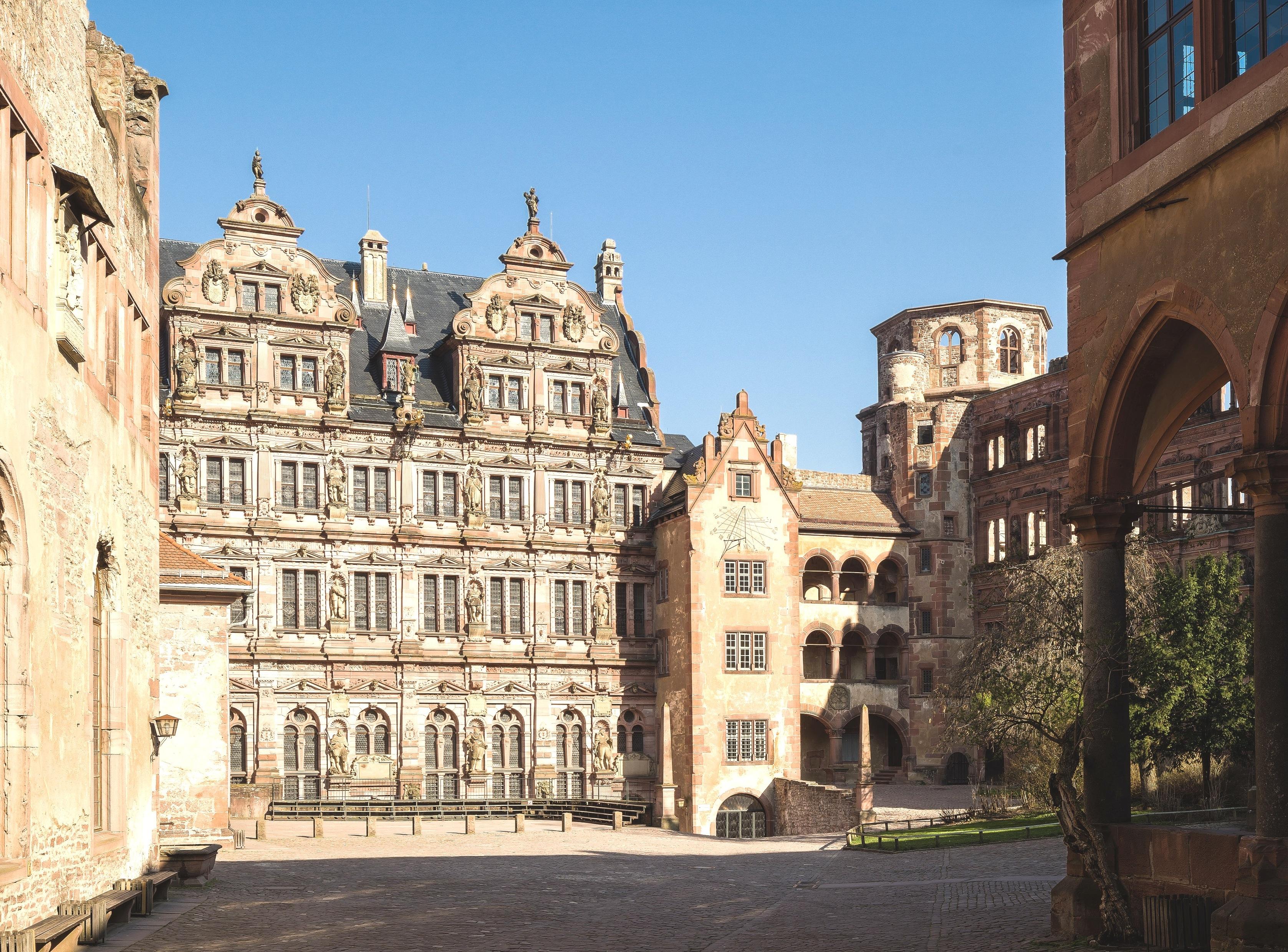 Heutiger Blick in den Schlosshof.