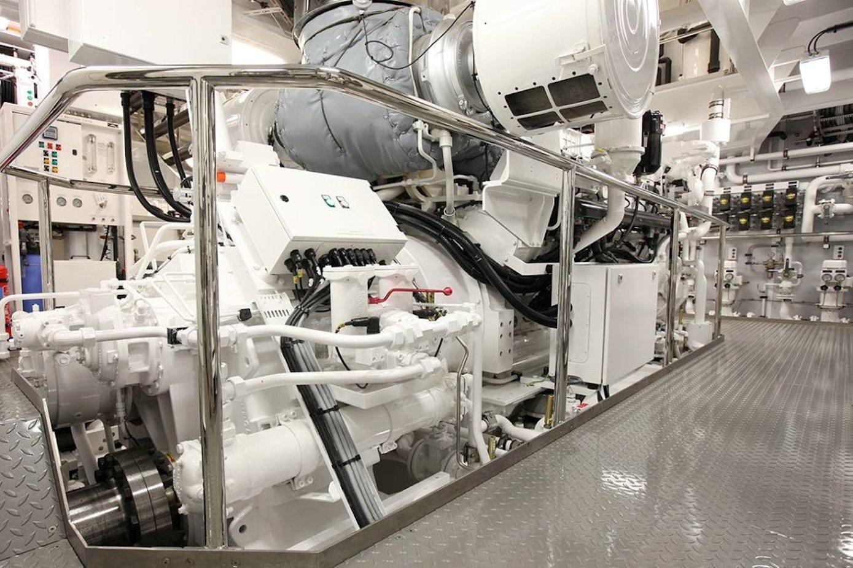Teststand für Schiffsgetriebe der Firma Reintjes: Schiffsgetriebe sind richtig groß und teuer. Die Wartung kostet Zeit. Deshalb sollen Sensoren Schäden und Verschleiß schon früh erkennen.