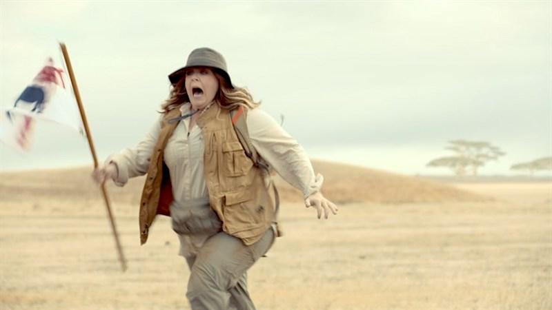 Kia hatUS-Schauspielerin Melissa McCarthy für den Super Bowl in die Wüste geschickt.