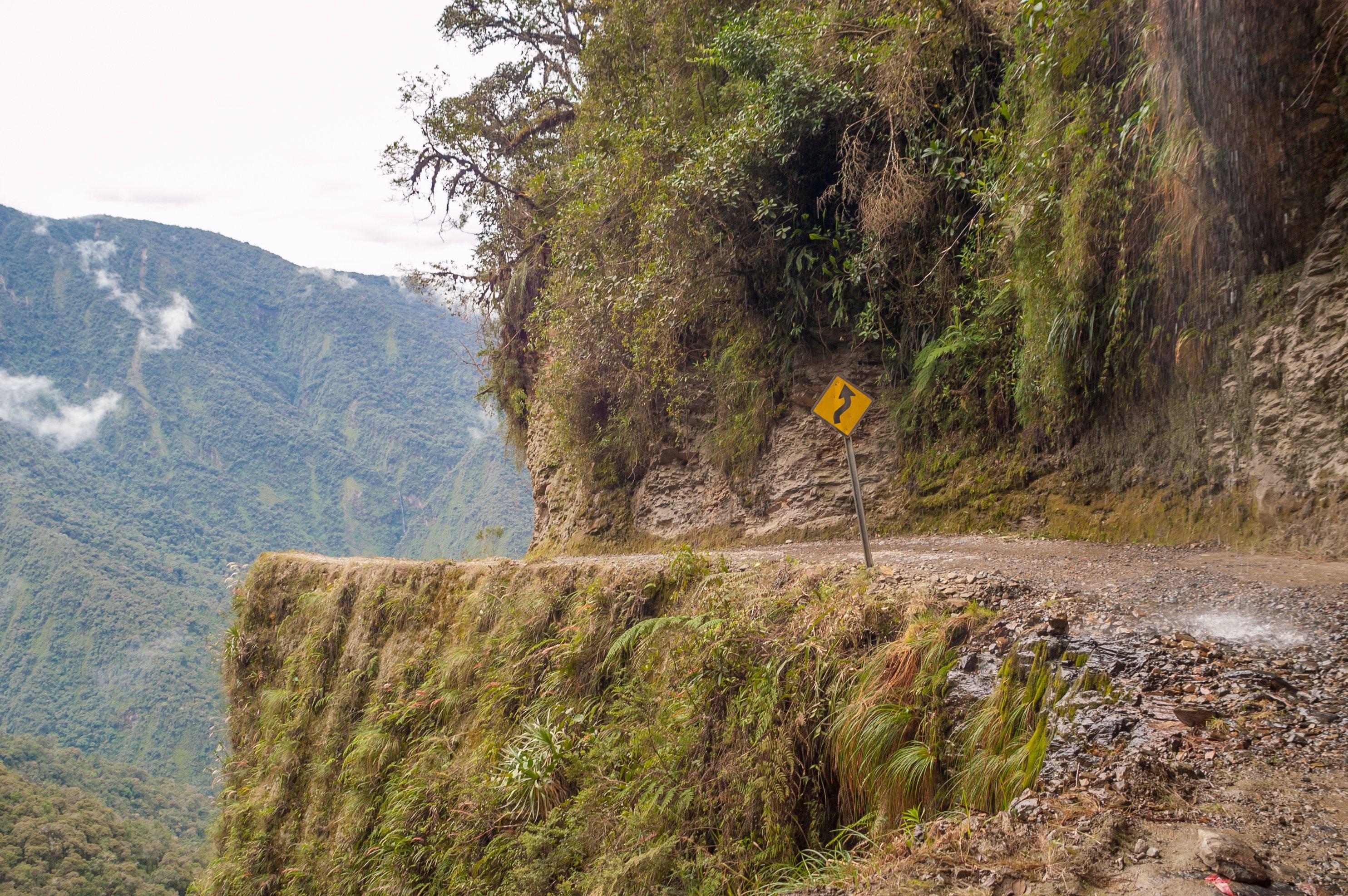 Die Yungas-Straße in Bolivien wurde auch