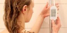 Wie ein Eisbär in der Dusche beim Warmwasser sparen hilft