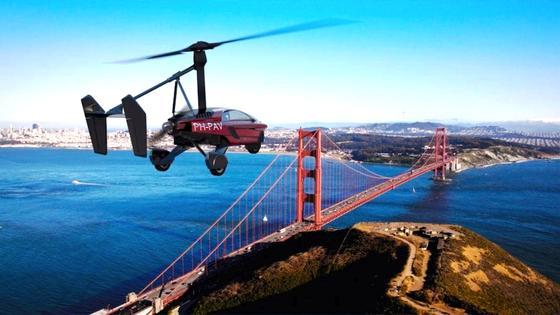 Flug über die Bucht von San Francisco: Herrscht Stau auf der Golden Gate Bridge, könnten Vermögende künftig mit ihrem Auto in die Luft steigen, um auf die andere Seite zu kommen. Allerdings nur, wenn dort eine offizielle Landebahn zur Verfügung steht.