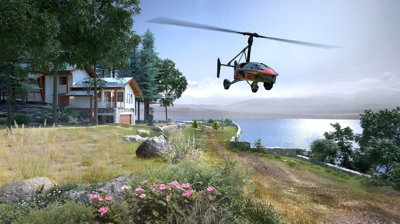 Wer sich das leisten kann, der kann künftig direkt vom Eigenheim mit dem Tragschrauber Pal-V zur Arbeit fliegen. Allerdings braucht er eine offizielle, wenigstens 330 m lange Startbahn im Garten.