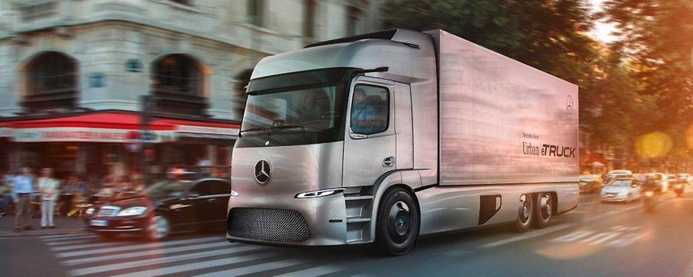 Zu den herausragenden Merkmalen des Urban e-Truck gehört sein Antrieb mit elektrisch angetriebener Hinterachse und Elektromotoren unmittelbar neben den Radnaben. Die Maximalleistung beläuft sich auf 2 x 125 kW, das Drehmoment beträgt 2 x 500 Nm.