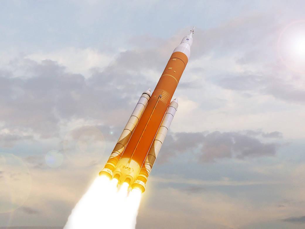 Die SLS-Trägerrakete wird von Boeing gebaut und verfügt über die stärksten Triebwerke der Welt.