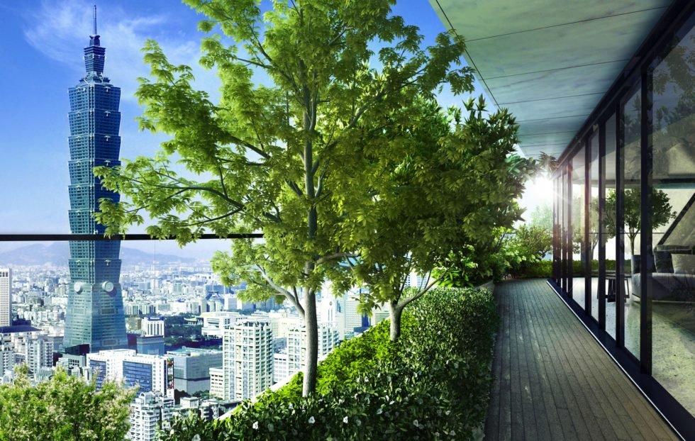 In diesem Hochhaus wachsen so viele Bäume wie im Central Park in New York