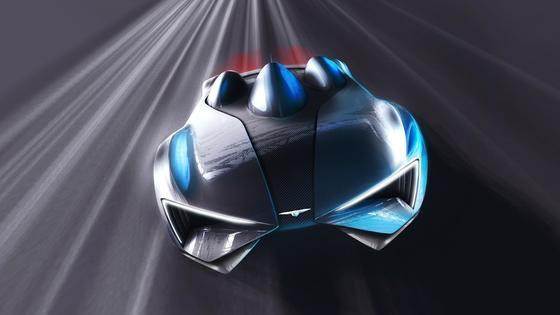 So sieht der neue Elektro-Supersportler des chinesischen Entwicklers Techrules aus, der auf dem Autosalon in Genf Premiere hat. Das Auto hat sechs Elektromotoren und fährt dank einer Turbine, die Strom erzeugt, bis zu 2.000 km weit.