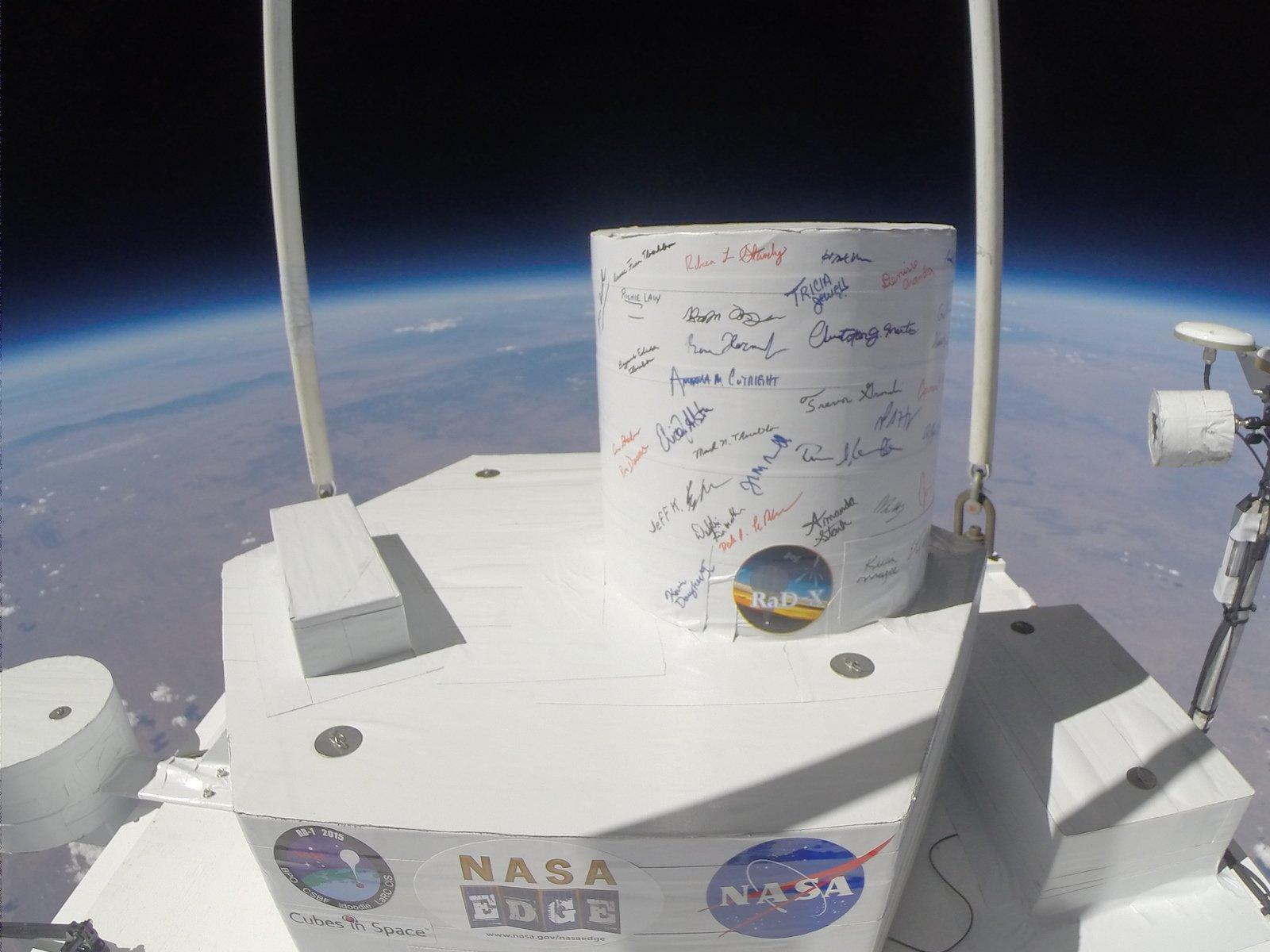 Im September 2015 schickte die NasaRaD-Xin die Stratosphäre, um die kosmische Strahlung aus der Sonne und dem interstellaren Raum zu messen.