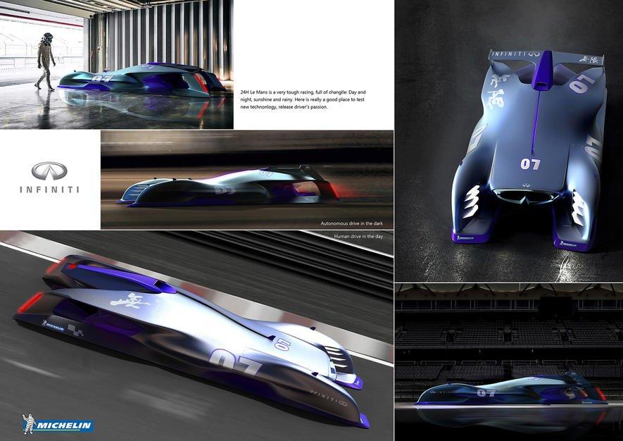 Der Siegerentwurf der Michelin Design Challenge:der Infiniti vonTao Ni.