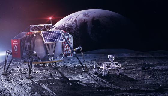 """Mondmission 2018: Raumschiff Alina und Audi Luna Quattro.Gemeinsam mit dem Berliner Start-up """"Part Time Scientists"""" will Vodafone mit dem ersten LTE-Netz im All die erste Mondlandung Deutschlands möglich machen."""