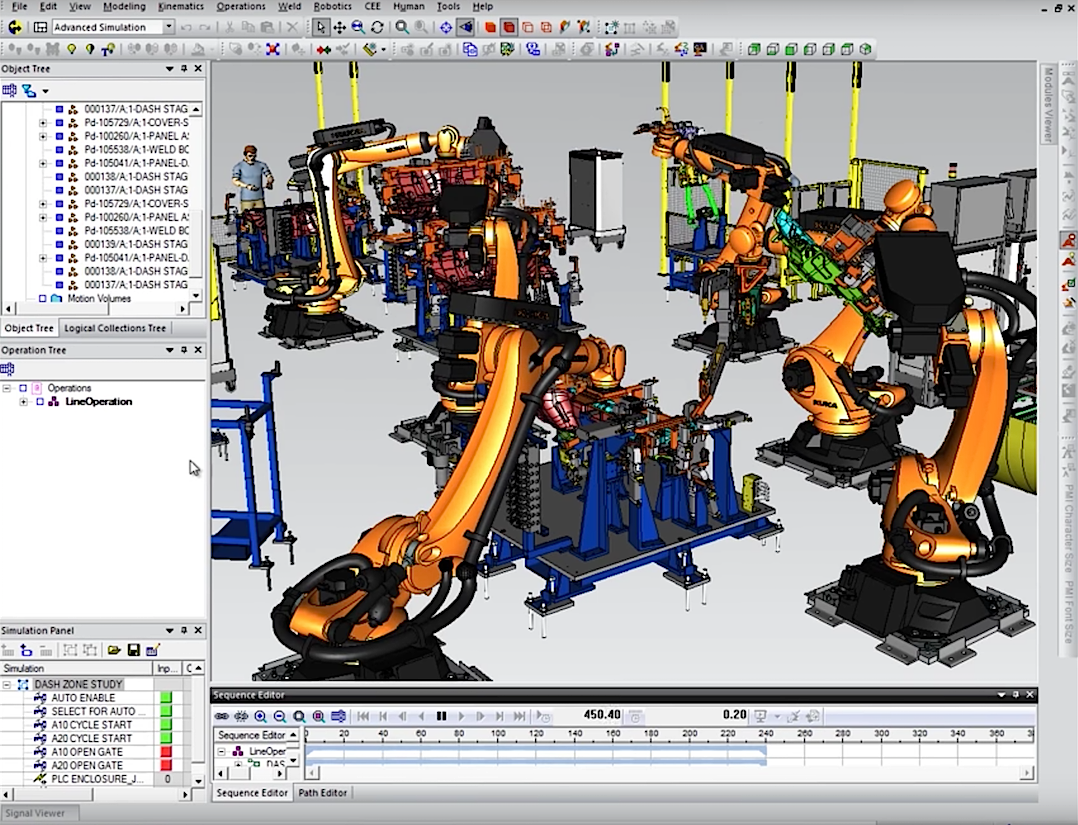 Siemens und Uniti planen aktuell den Produktionsprozess im Computer. Anschließend entsteht eine Industrie-4.0-Fabrik, die den Wagen vollautomatisch fertigt.