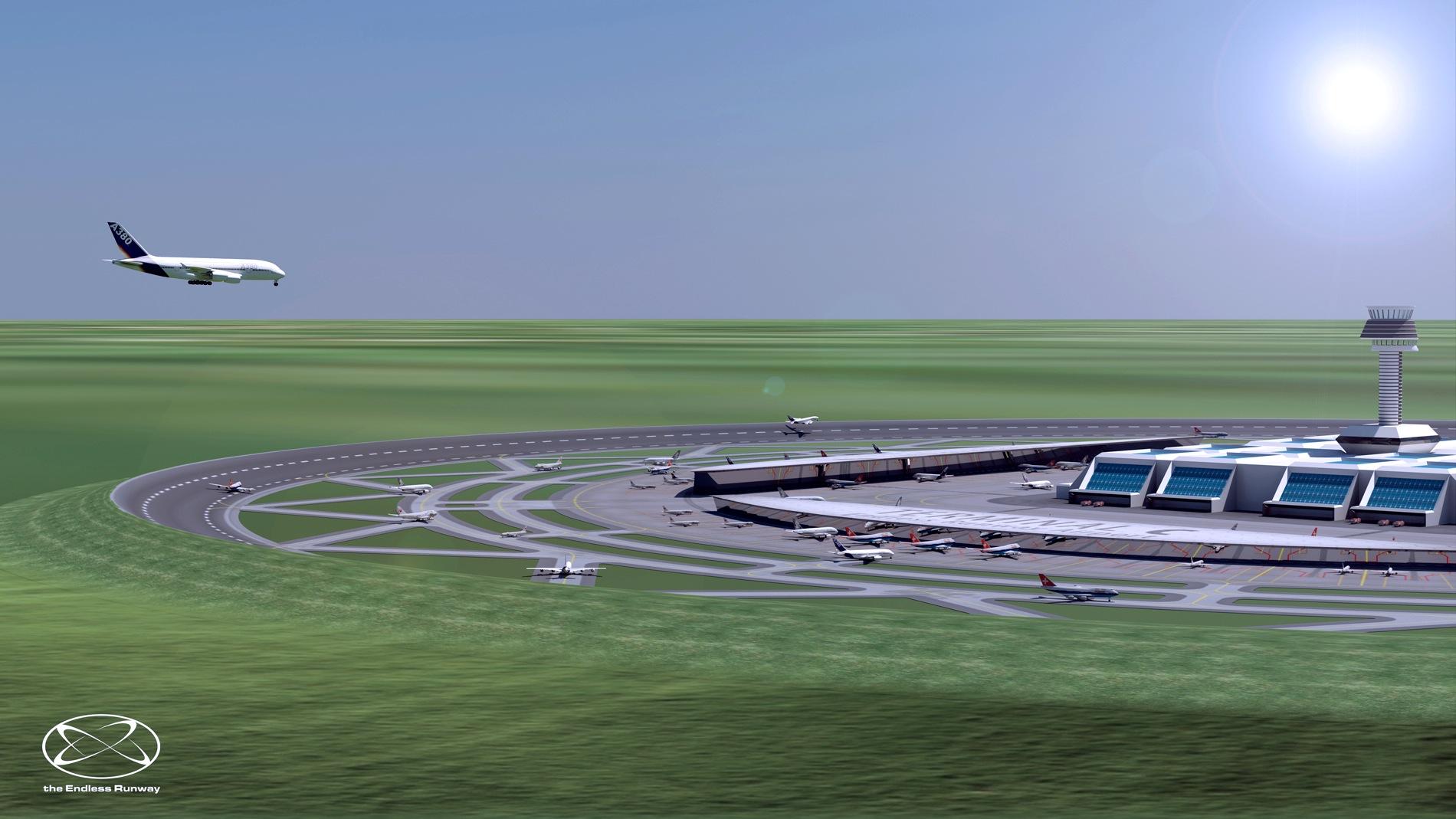 Auch bei der Landung können sich Flugzeuge den optimalen Punkt auswählen und starken Seitenwinden aus dem Weg fliegen.