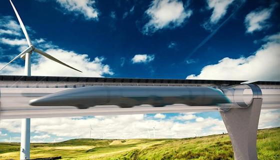 Hyperloop:Die Deutsche Lufthansa liebäugelt mit der Technologie der Hochgeschwindigkeitsbahn, bei der die Züge mit Spitzengeschwindigkeiten von bis zu 1.220 km/h durch Vakuumröhren sausen.