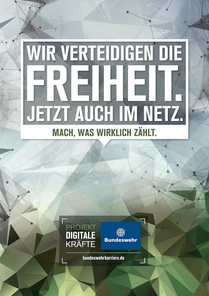 Auf der Suche nach Personal: Die Bundeswehr hat eine Kampagne mit dem Titel