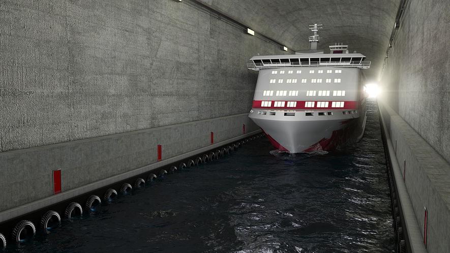 Norwegen baut den größten Schiffstunnel der Welt