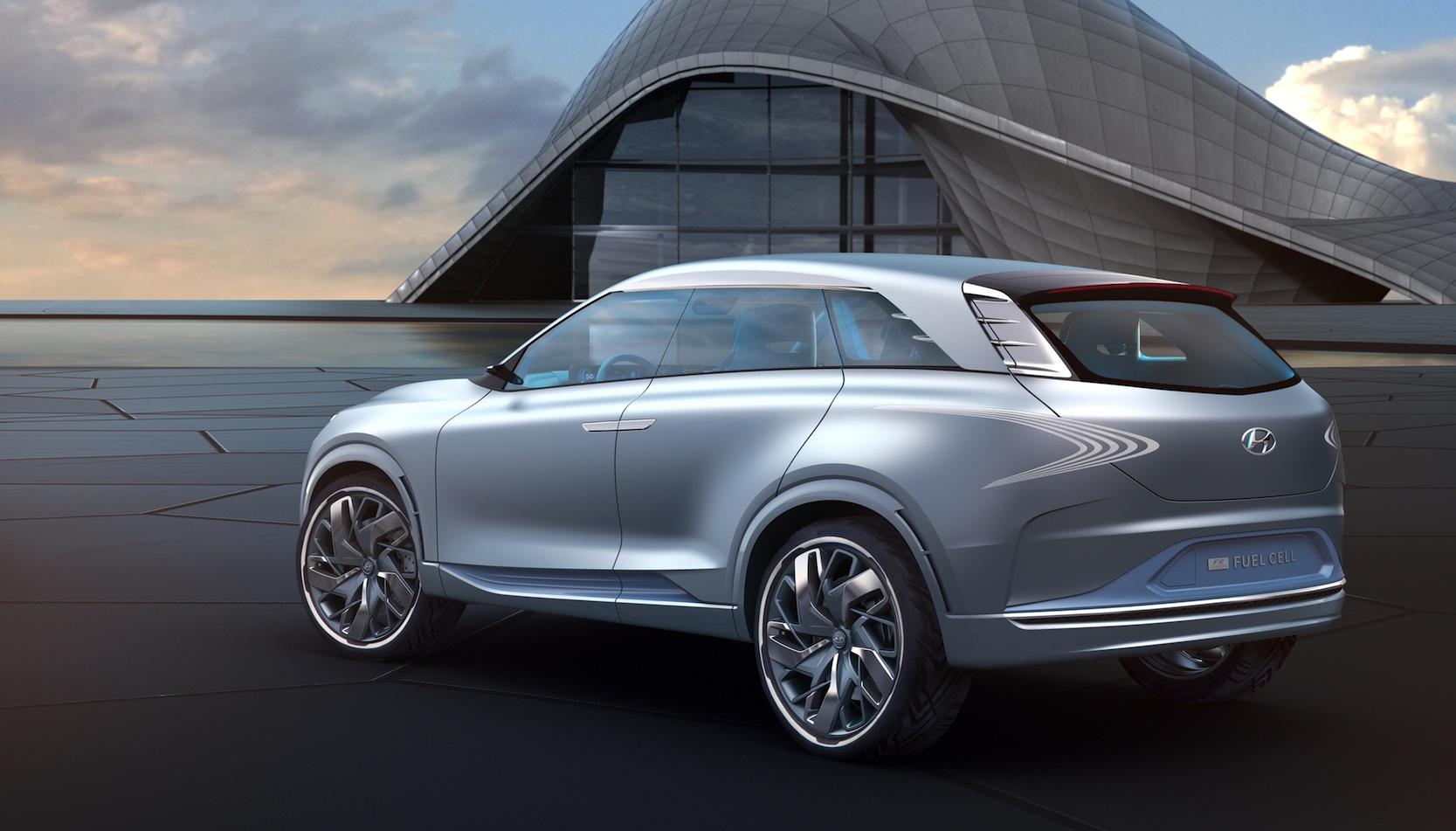 Diesen SUV mit Brennstoffzelle bringt Hyundai 2018 auf den Markt. Von dem Auto will Hyundai mehrere Tausend Fahrzeuge pro Jahr in Serie produzieren.