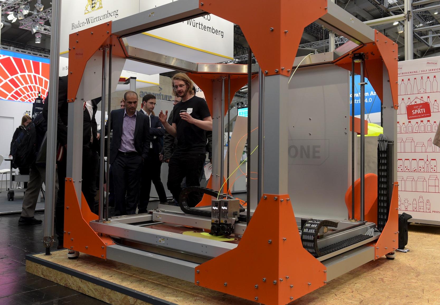 3D-Drucker auf der Hannover Messe: Additive Fertigung ist eines der Hauptthemen der Messe.