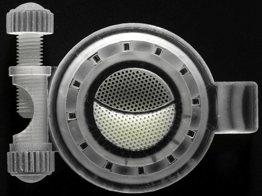 Präzise bis auf 16 Mikrometer genau soll der neue 3D-Drucker von Kisters die Modelle anfertigen.