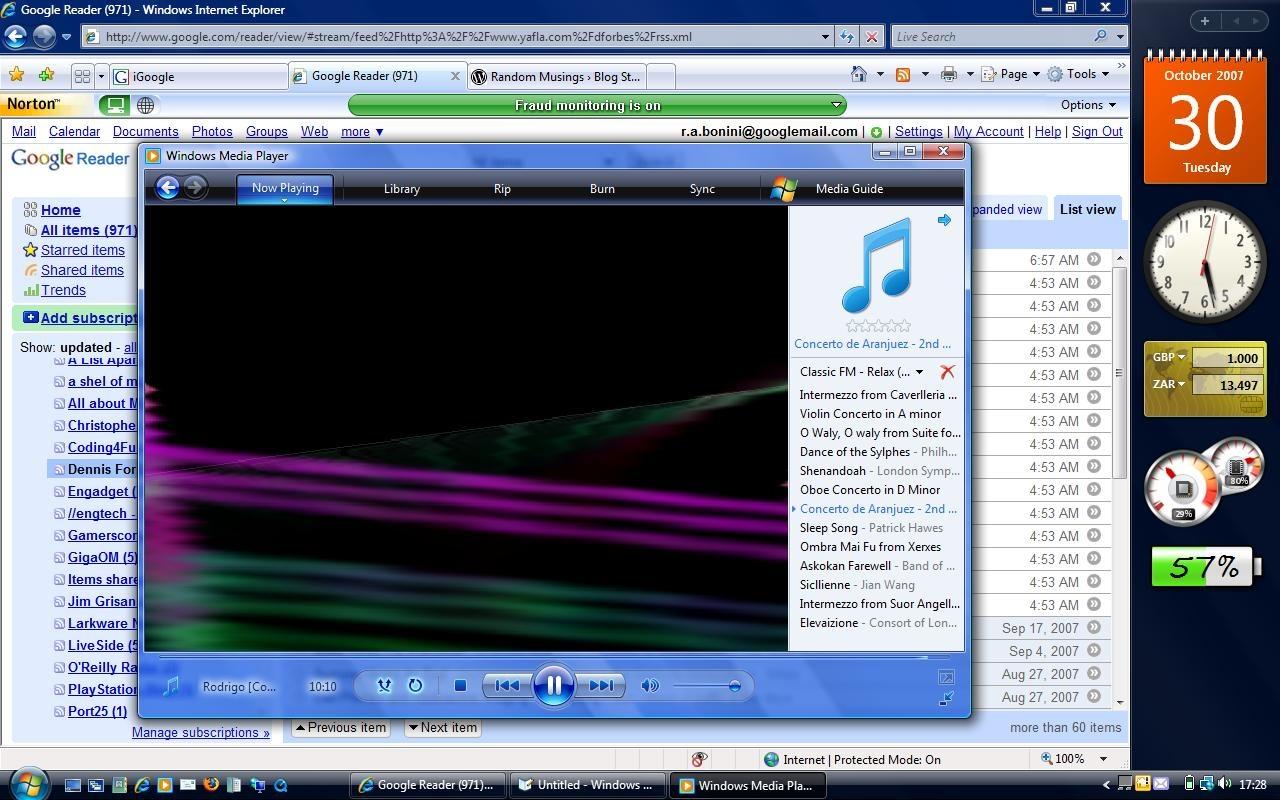 Desktop mit analoger Uhr unter Windows Vista: Die seit des 2007 veröffentlichten Betriebssystems ist jetzt abgelaufen.