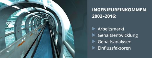 Einkommensstudie 2016 des Karriereportals ingenieurkarriere.de des VDI Verlags.