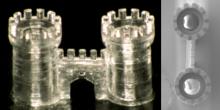 3D-Drucker fertigt Mini-Gegenstände aus Glas Mikrometer genau