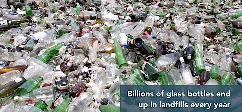 Immer noch landet jede Menge Altglas auf der Deponie.