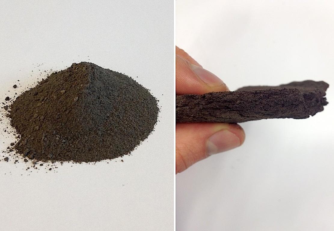 Da Mondstaub auf der Erde rar ist, haben die DLR-Forscher einen sehr ähnlichen Vulkanstaub von der Erde genutzt, um ihre Versuche durchzuführen. Die Eigenschaften des Imitates von der Erde sind fast identisch mit denen des Mondstaubs.